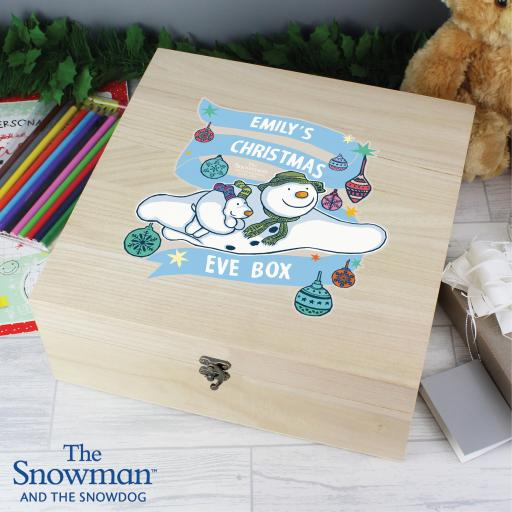 Personalised The Snowman and the Snowdog Christmas Eve Box