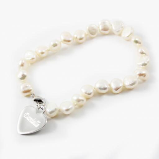 Personalised White Freshwater Pearl Bracelet