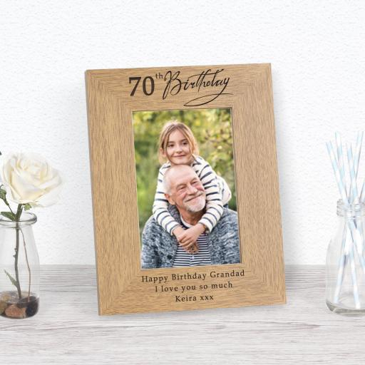 70th Birthday Photo Frame