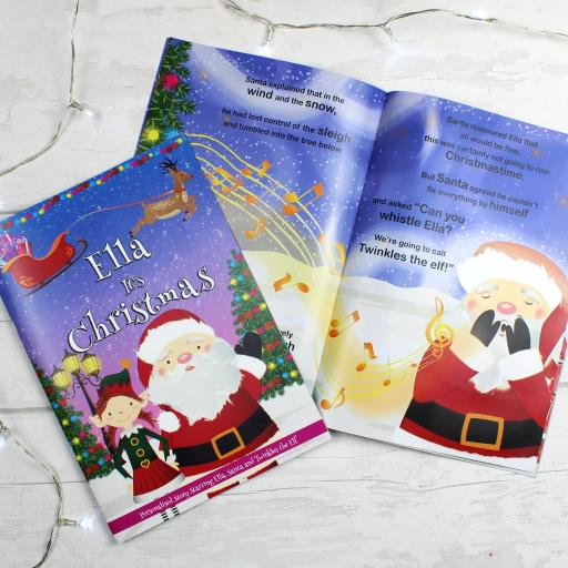 """""It's Christmas"""" Personalised Girls Story Book"