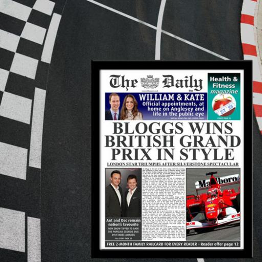 The Daily Grand Prix News Single Page Print - Female