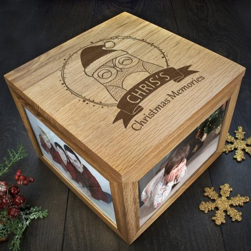 Personalised Woodland Animal Christmas Memory Boxes - Owl