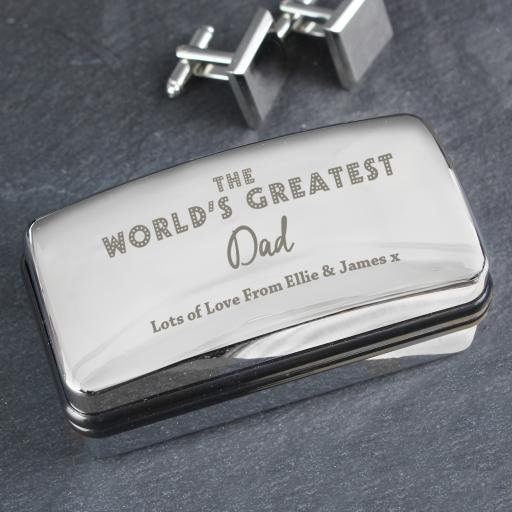 'The World's Greatest' Cufflink Box