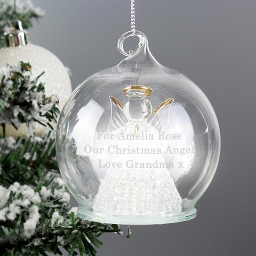 Personalised LED Angel Bauble