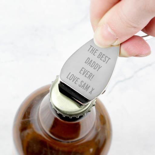 Personalised Bottle Opener Keyring