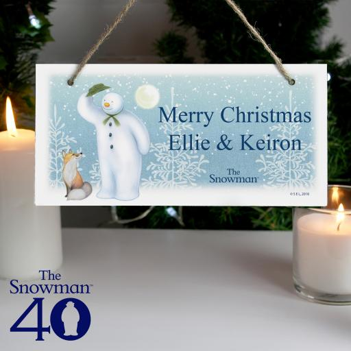 The Snowman Snow Wonder Personalised Sign