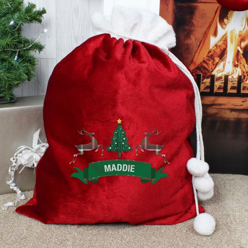 Personalised Nordic Christmas Sack