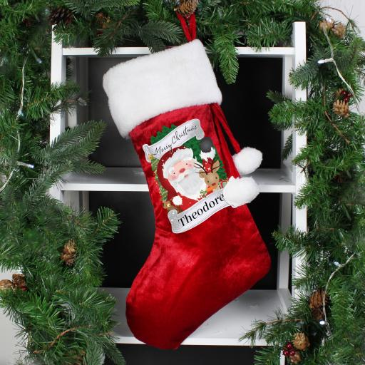 Personalised Red Santa Stocking