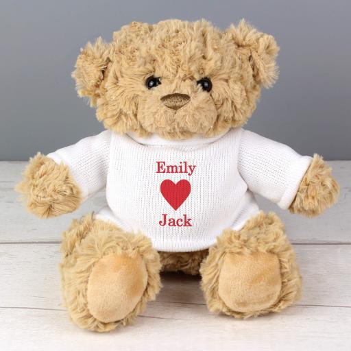 Personalised Love Heart Teddy Bear