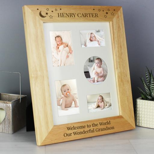 Little Stars Wooden Photo Frame