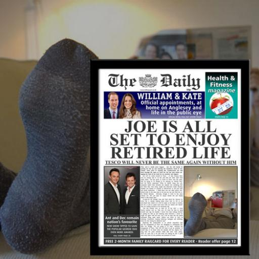 The Daily Retirement News Single Page Print - Male