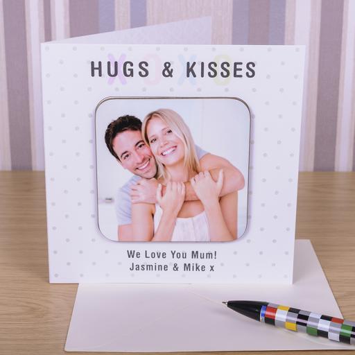 Hugs & Kisses Coaster Card