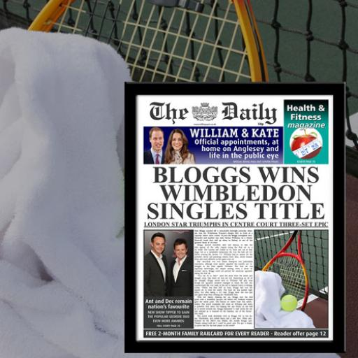 The Daily Tennis News Single Page Print - Female