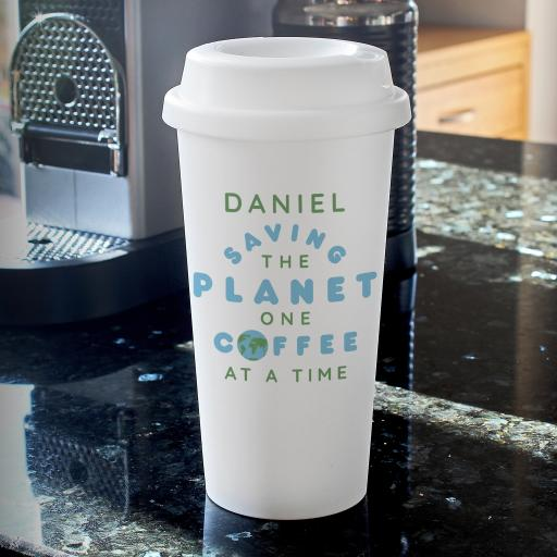 Personalised 'Saving the Planet' Travel Mug