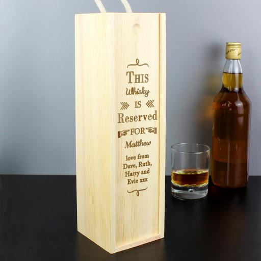 Reserved For Wooden Wine Bottle Box