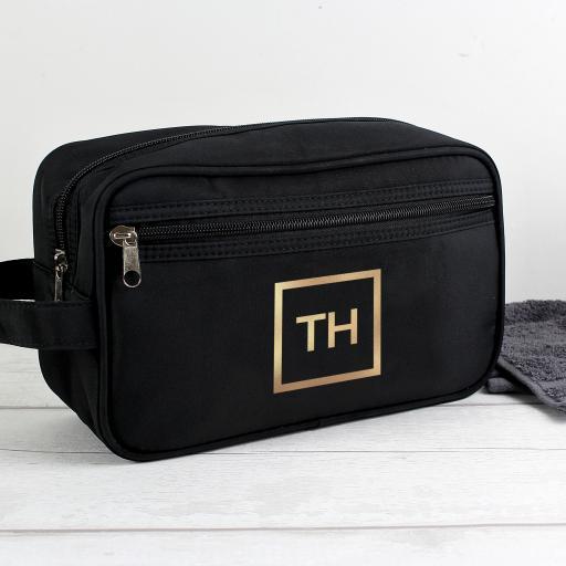 Personalised Gold Initials Vanity Bag