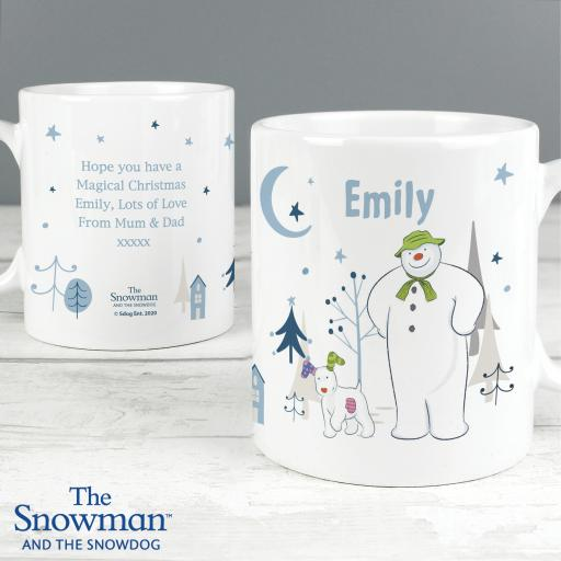 The Snowman and the Snowdog Personalised Mug