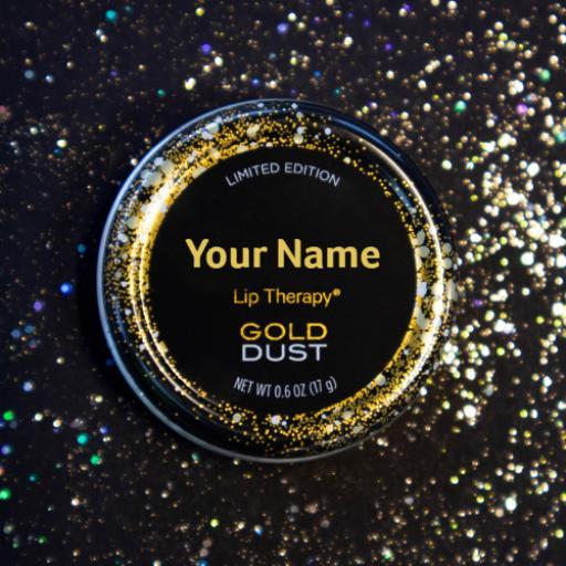 Personalised Vaseline Gold Dust Tin