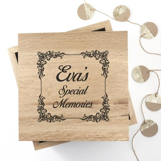 Oak Memory Box & Photo Cube