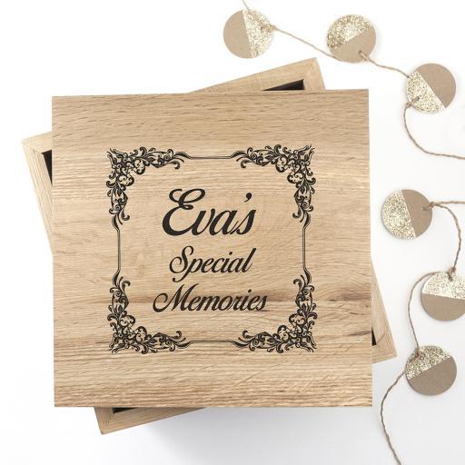 Oak Memory Box & Photo Cube