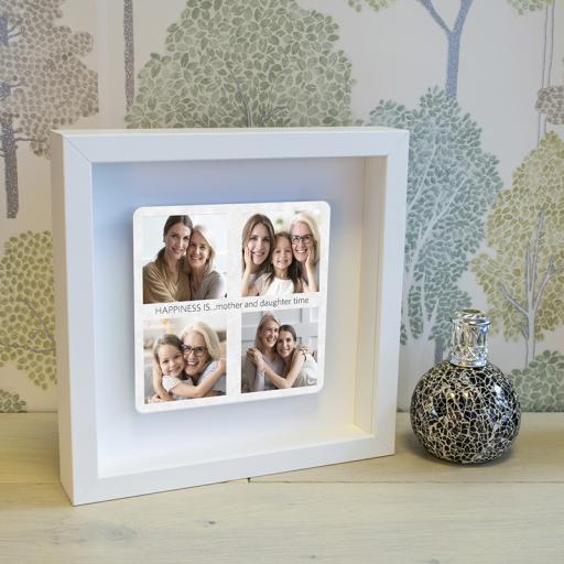 Mum Photos Floating Metal Box Frame