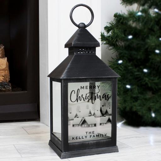 Christmas Rustic Black Lantern