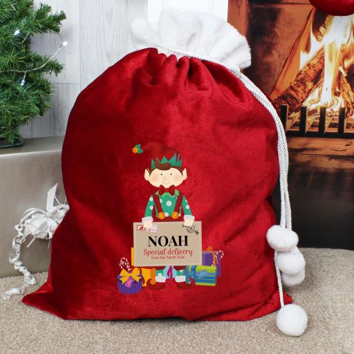 Personalised Christmas Elf Sack