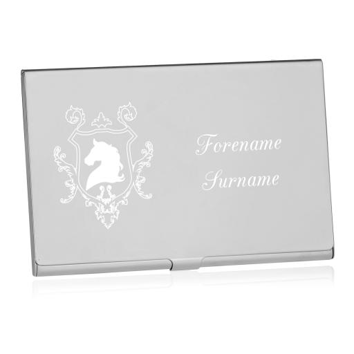 Personalised Equestrian Business Card Holder