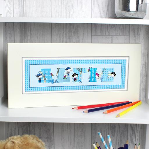 Personalised Pirate Letter Name Frame
