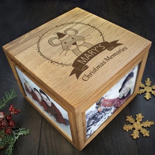 Personalised Woodland Animal Christmas Memory Boxes - Mouse