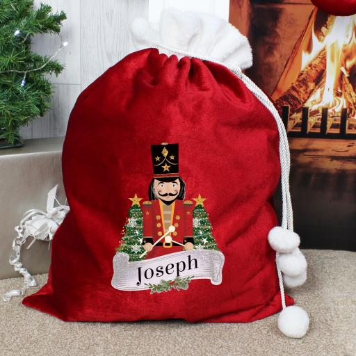 Nutcracker Personalised Christmas Sack