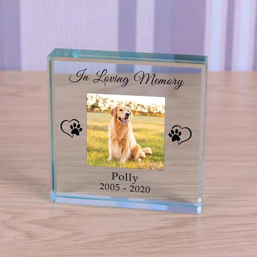 In Loving Memory Glass Token