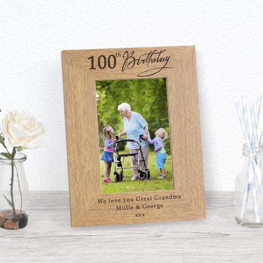 100th Birthday Photo Frame
