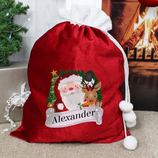 Santa Personalised Christmas Sack