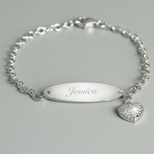 Personalised Children's Silver Bracelet