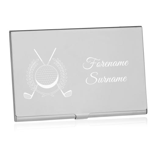 Personalised Golf Business Card Holder