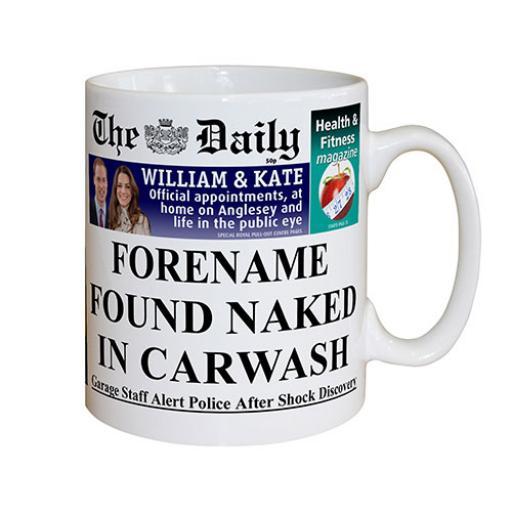 The Daily Naked In Carwash Mug