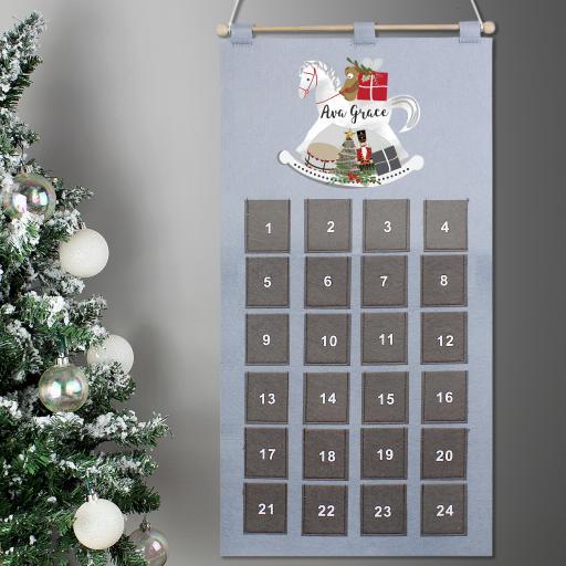 Personalised Rocking Horse Advent Calendar