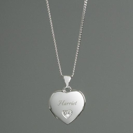 Personalised Children's Heart Locket Necklace
