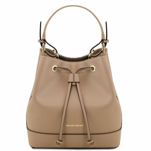 Minerva Saffiano leather secchiello bag