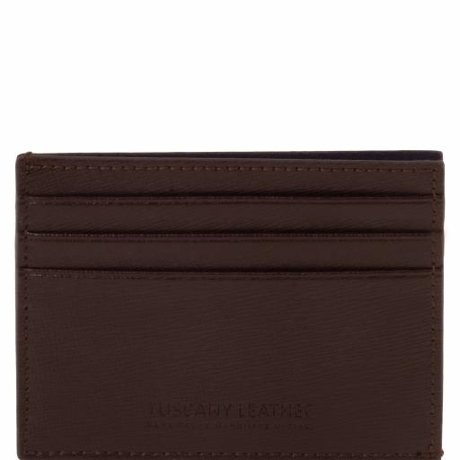Exclusive Saffiano leather credit/business card