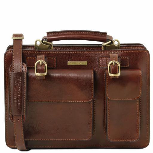 Tania Leather lady handbag - Large size