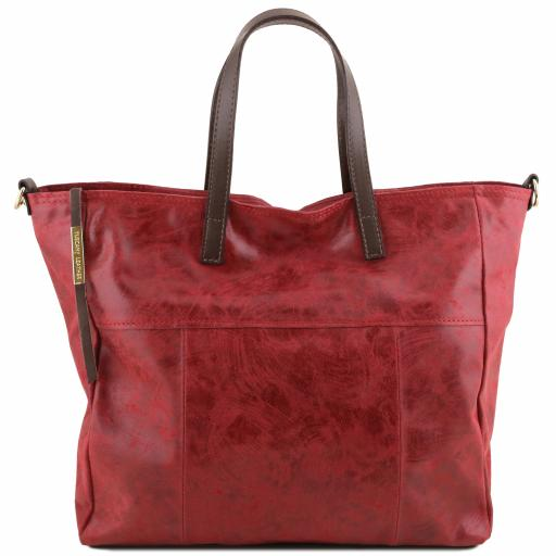 Annie Aged effect leather TL SMART shopping bag