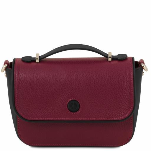 Primula Leather clutch handbag