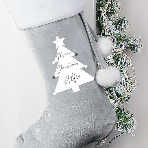 Personalised Christmas Tree Luxury Stocking