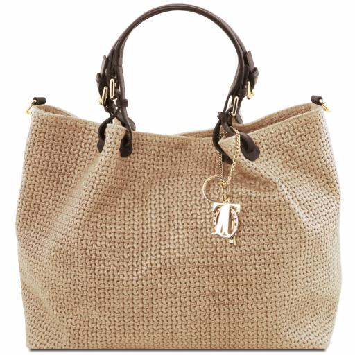 TL KeyLuck Woven printed leather TL SMART shopping bag - Large size