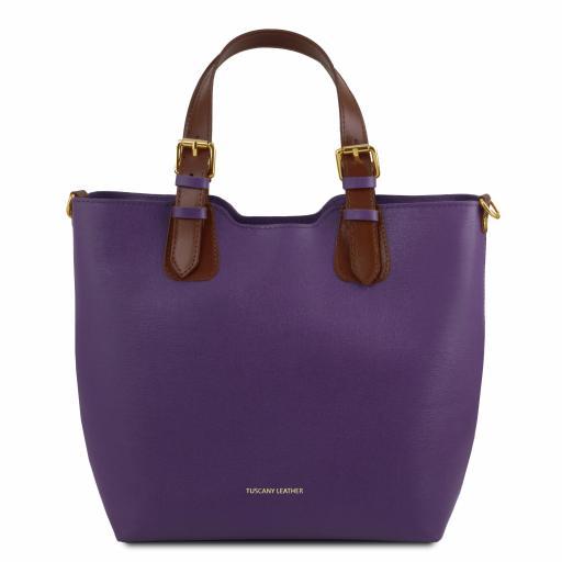 TL Bag Saffiano leather tote