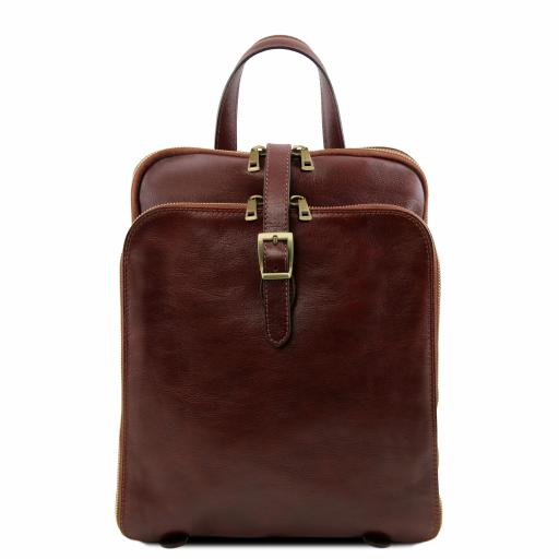 Taipei 3 Compartments leather backpack