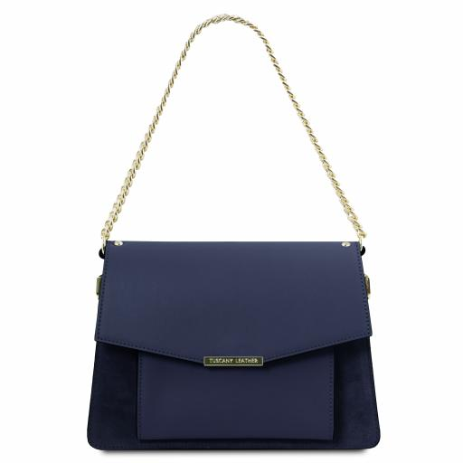 Andromeda Leather handbag with chain strap
