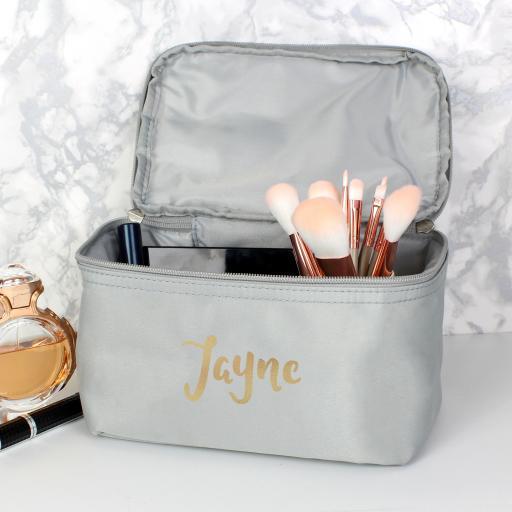 Gold Name Personalised Vanity Bag